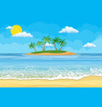 summer beach with a sun vector image vector image