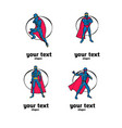 superhero logo set vector image