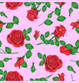 valentines day background with roses with pink vector image