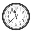 vintage classic black and white round wall clock vector image vector image