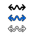 wavy arrow icon vector image vector image