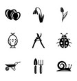working field icons set simple style vector image vector image