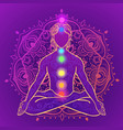 yoga man ornament beautiful concept meditation vector image vector image
