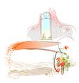 Home Interior Sketch Scene vector image