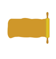 rolling pin with space for message vector image