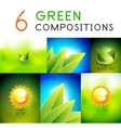Mega collection of green summer concepts vector image