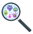 colorful funny bacteria vector image