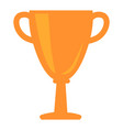 golden cup award icon isolated vector image