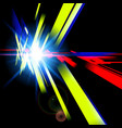 abstract futuristic design with different colors vector image vector image
