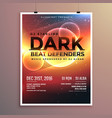 abstract party flyer template with event date vector image vector image