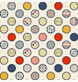 abstract seamless pattern circles vector image vector image