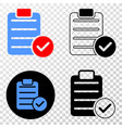 accept pad text eps icon with contour vector image