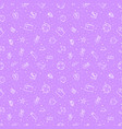 beach holiday stuff seamless pattern violet vector image