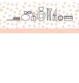 Beauty makeup accessories header banner flyer vector image vector image