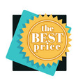 best price tag isolated icon shopping sale or vector image vector image