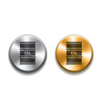black barrel oil icon on silver and gold buttons vector image