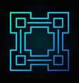 block chain line blue icon - blockchain vector image