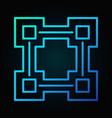 block chain line blue icon - blockchain vector image vector image