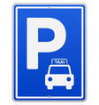 Blue Parking Sign vector image