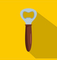bottle opener icon flat style vector image