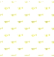 Brass trumpet pattern cartoon style vector image vector image