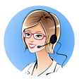 Call center operator vector image