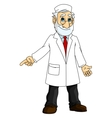 Cartoon doctor in white coat vector image