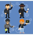 characters involved in criminal activities vector image