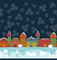 christmas house background vector image