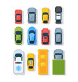city vehicles top view flat set vector image vector image