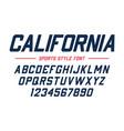 classic college font vintage sport sans serif vector image vector image