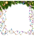Color Christmas light bulbs on white EPS 10 vector image