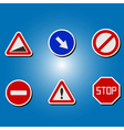 color icons with traffic signs vector image vector image