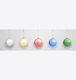colorful christmas balls set on white background vector image vector image