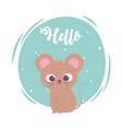 cute cartoon animal adorable wild character little vector image vector image