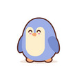 cute little penguin cartoon comic character vector image vector image