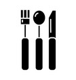 Cutlery icon black sign on