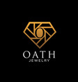 diamond logo designs simple modern for jewelry vector image
