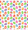 easter eggs seamless pattern easter holidays vector image