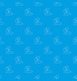 egg pattern seamless blue vector image vector image