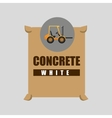 excavator machine concrete graphic vector image vector image