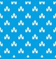 fairytale castle pattern seamless blue vector image vector image