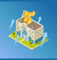 financial business banking isometric vector image