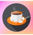 Flat Icon Cup of tea icon vector image vector image