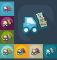 flat modern design with shadow icons loader vector image vector image