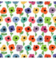 floral seamless pattern small colorful flowers vector image vector image
