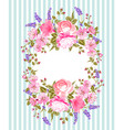 flower frame for invitation card vector image
