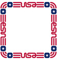 frame with usa flag colors and symbols vector image