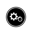 gear round flat icon vector image