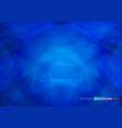 geometric shape abstract on blue background vector image vector image